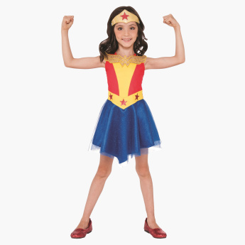 Wonder Woman Costume Dress and Head Gear Set