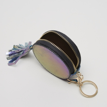 Charmz Applique Detail Coin Pouch with Tassel Detail