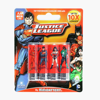 Kids Battery Justice League AA/LR6 1.5 V Alkaline Battery - Set of 4