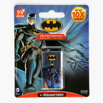 Kids Battery Batman Printed 6LR61/9V Alkaline Battery