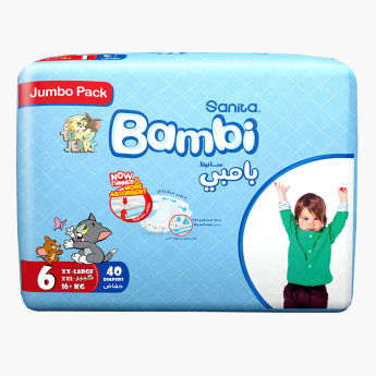Sanita Bambi XXL Size 6 Jumbo Pack Diapers - 40 Pieces