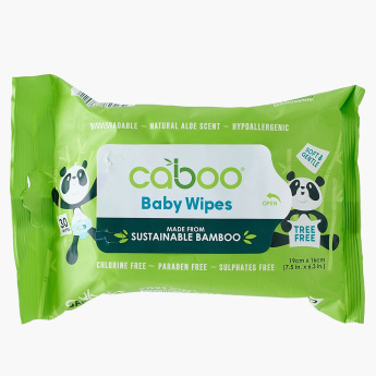 Caboo Baby Wipes in Pull Tap Pack - 30 Pieces
