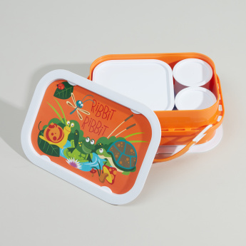 Yubo Printed Lunch Box with Multiple Containers and Face Plate