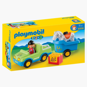 Playmobil Car with Horse Trailer Playset