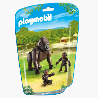 Playmobil Gorilla with Babies Playset