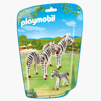 Playmobil Zebra Family Playset