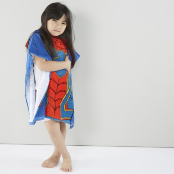 Spider-Man Printed Cotton Bath Poncho – 60x165 cms