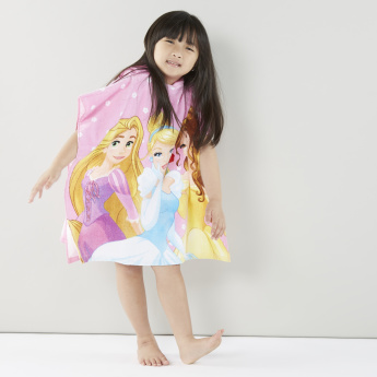 Princess Printed Hooded Bath Poncho
