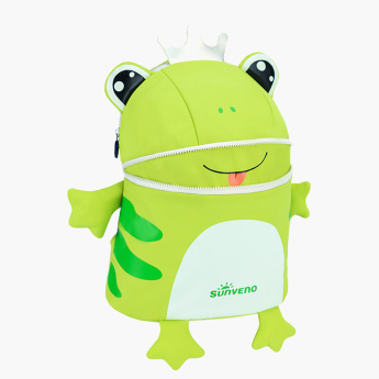 Sunveno Frog Shaped Backpack with Zip Closure