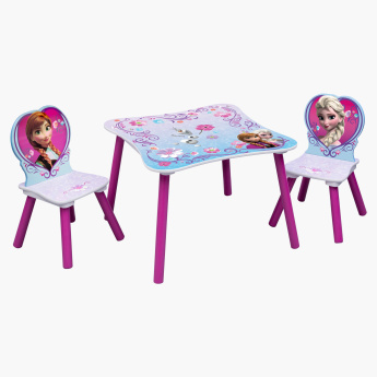 Delta Frozen Printed 3-Piece Table and Chair Set