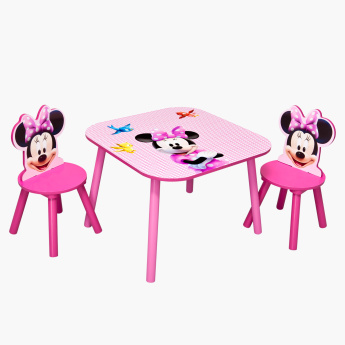 Delta Minnie Mouse Printed 3-Piece Table and Chair Set