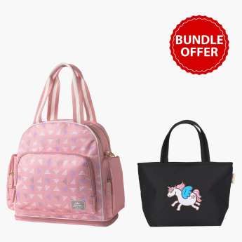 Sunveno Embroidery Diaper Bag Bundle Offer