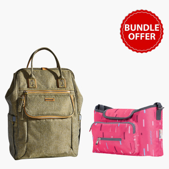 Sunveno Textured Diaper Bag Bundle Offer