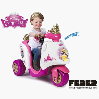 Feber Princess Printed Ride-On Scooty
