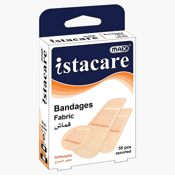 Max Istacare 50-Piece Fabric Bandages Box