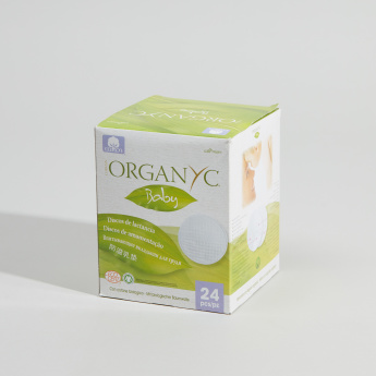 ORGANYC Baby Cotton 24-Piece Nursing Pads