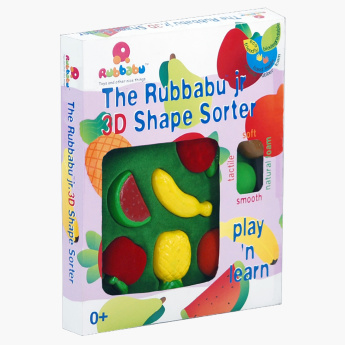 Rubbabu 3D Shape Sorter Fruits Playset