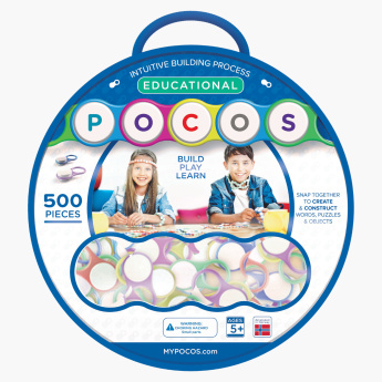 Pocos Build and Learn 500-Piece Educational Bag Playset