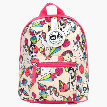 Zip and Zoe Mini Printed Backpack with Safety Harness