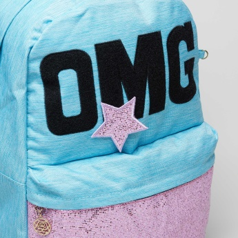 Juniors Applique Detail Backpack and Pencil Case - 16 inches