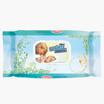 Bebiko Premium Alcohol Free 72-Piece Baby Wipes