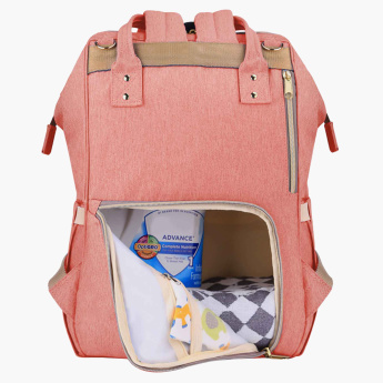 Sunveno Diaper Bag with External Zippered Compartment