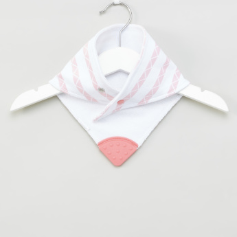 Hudson Baby 2-Piece Printed Bandana Bibs with Teether