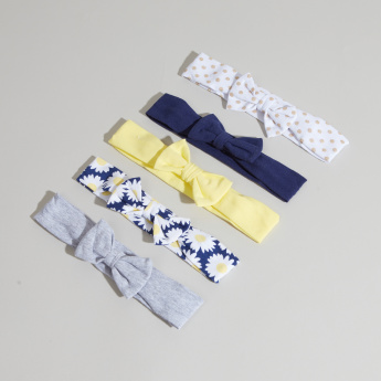 Hudson Baby 5-Piece Printed Headbands with Bow Styling