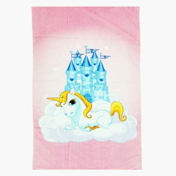 Little 1S Unicorn Printed Beach Towel