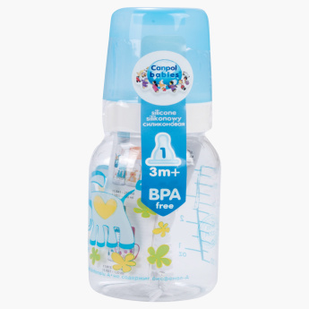 Canpol Babies Happy Animal Printed Feeding Bottle - 120 ml