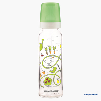 Canpol Babies Happy Farm Printed Feeding Bottle - 240 ml