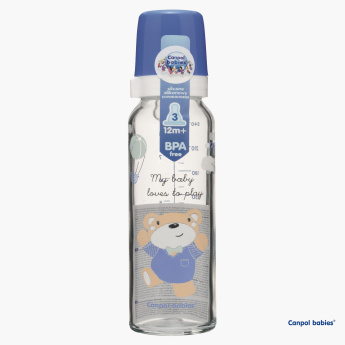 Canpol Babies Printed Feeding Bottle - 240 ml