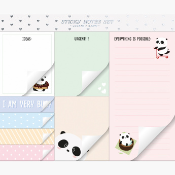 Legami Panda Printed Sticky Notes Set