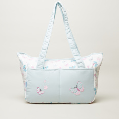 Juniors Printed Diaper Bag with Twin Handles and Zip Closure