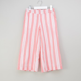 Iconic Striped Culottes with Pocket Detail and Zip Closure