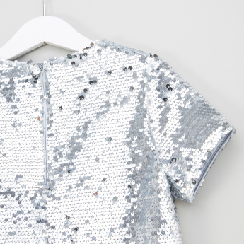 Iconic Sequinned Top with Short Sleeves
