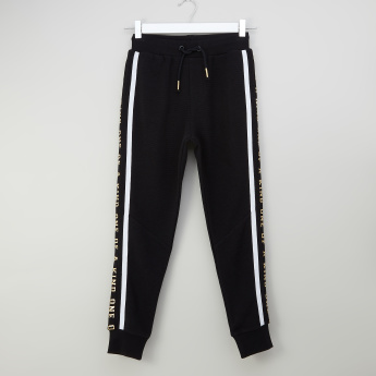 Iconic Printed Jog Pants with Drawstring