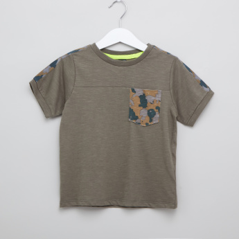 Iconic Camouflage Printed T-shirt with Pocket Detail