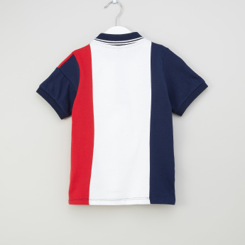 Iconic Cut and Sew T-shirt with Polo Neck and Short Sleeves