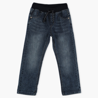 Bossini Full Length Denim Pants with Elasticised Waistband