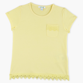 Bossini Short Sleeves Lace Trim T-Shirt
