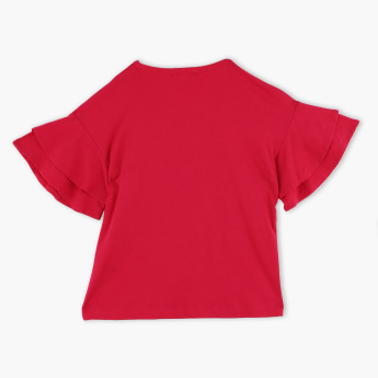 Bossini Ruffle Detail T-Shirt