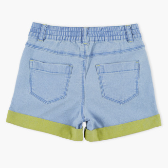 Bossini Denim Shorts with Button Closure