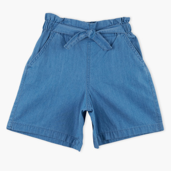Bossini Denim Shorts with Tie Ups