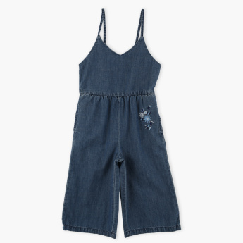 Bossini Embroidered Denim Dungarees