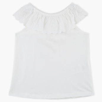 Bossini Ruffle Detailed Boat Neck Top