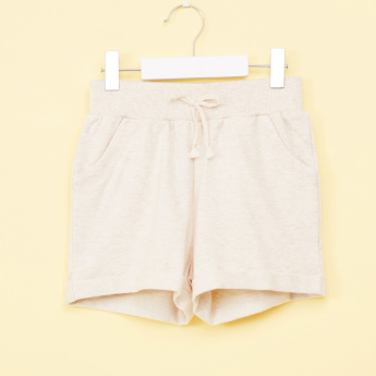 Bossini Shorts with Elasticised Waistband and Pocket Detail