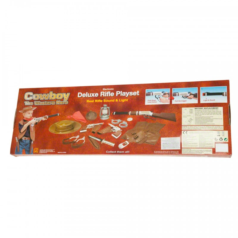 Cowboy Deluxe Rifle Play Set