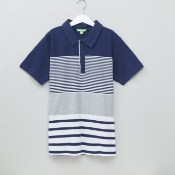 Bossini Striped Polo Neck Short Sleeves T-Shirt
