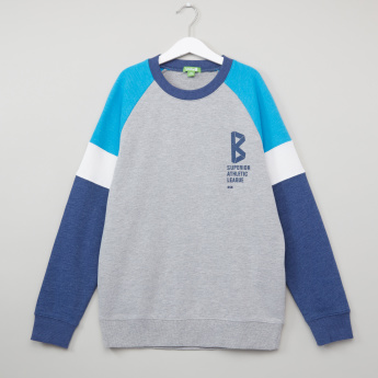 Bossini Printed Raglan Sleeves Sweatshirt